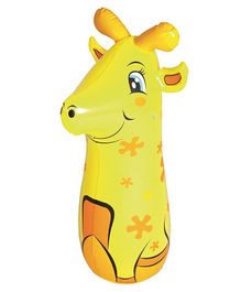 Bestway Big Bop Punching Bag Giraffe Yellow - Height 36 Inches