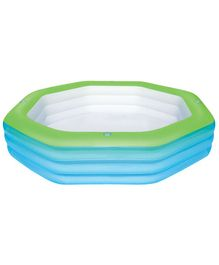 Bestway Inflatable Swimming Pool 8.2 Feet - Blue & Green