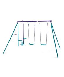 Plum Jupiter Metal 2 Swing With Glider - Blue