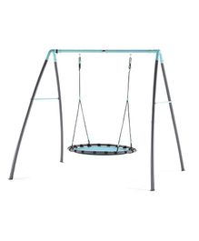 Plum Metal Nest Swing With Mist Feature - Blue