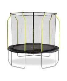 Plum Wave Springsafe Trampoline And Enclosure Black - 10 feet