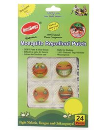 RunBugz Mosquito Repellent Patch Smiley Print - Pack Of 24