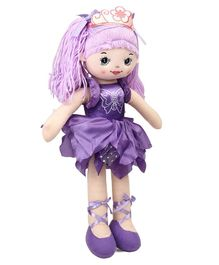 Starwalk Plush Doll With Crown Soft Toy Purple - Height 50 cm