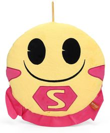 My Baby Excels Emoji S Cape Face Plush Soft Toy Pink - Height 30 cm