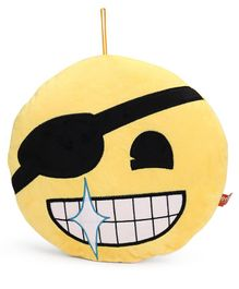 My Baby Excels Emoji Eyepatch Face Plush Soft Toy Yellow - Height 30 cm
