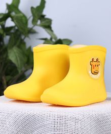 Cute Walk by Babyhug Gumboots Cow Face Design - Yellow