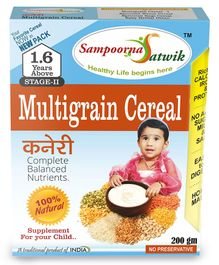 Sampoorna Satwik Multigrain Cereal Stage 2 - 200 gm
