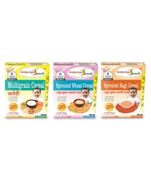 Sampoorna Satwik Combo Multigrain Stage 1 With Sprouted Wheat & Ragi Cereal Pack of 3 - 200 gm each