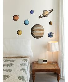 Asian Paints Planets Wall Sticker - Multi Colour