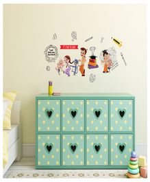 Asian Paints Chhota Bheem & Friends Wall Sticker - Multi Color