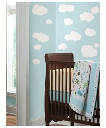 Asian Paints Clouds Wall Sticker - White