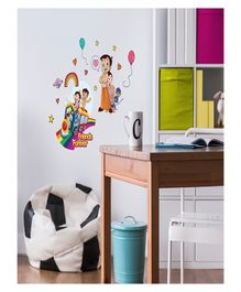 Asian Paints Chhota Bheem & Friends Wall Stickers - Multi Colour