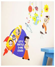 Asian Paints Chhota Bheem Space Wall Sticker - Multi Color