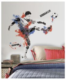 Asian Paints Soccer Wall Sticker - Blue Red
