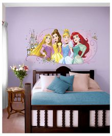 Asian Paints Disney Princess Frendship Wall Sticker - Multi Color