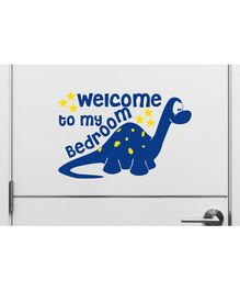 Asian Paints Door Dinosaur Peel & Stick Wall Sticker - Indigo