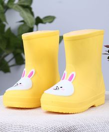 Cute Walk by Babyhug Gumboots Bunny Face Design - Yellow