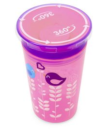 Munchkin Miracle 360 Decorated Sippy Cup Bird Print Pink Purple - 266 ml