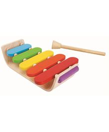 Plan Toys Wooden Oval Xylophone - Multi Colour