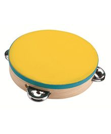 Plan Toys Wooden Tambourine - Yellow
