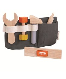 Plan Toys Wooden Tool Belt - Multi Color