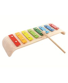 Plan Toys Wooden Xylophone - Beige & Multi Colour