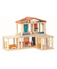 Plan Toys Wooden Creative Play House - Multi Colour