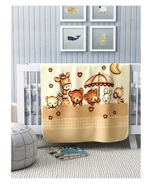 A Homes Grace Mink Baby Blanket Animal Design - Beige