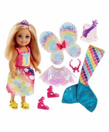 Barbie Doll With Accessories Multicolour - Height 14 cm