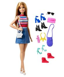 Barbie Doll With Fashion Accessories Multicolour - Height 29.5 cm