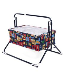 Mothertouch Wonder Cradle Teddy Bear Print - Navy