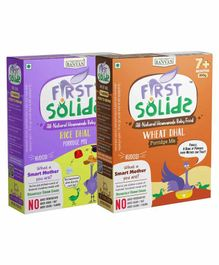 First Solids Organic Rice Dhal & Wheat Dhal Combo - 300 gm each