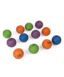 Elan Rubber Ball Pack Of 12 - Multicolor
