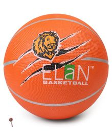 Elan Pro Basketball Lion Print Orange - Size 7