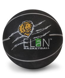 Elan Pro Basketball Lion Print Black - Size 7