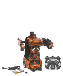 Turboz Remote Control Changing Robot Car - Brown