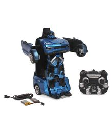 Turboz Remote Control Changing Robot Car - Blue