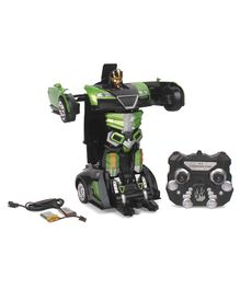 Turboz Remote Control Changing Robot Car - Green