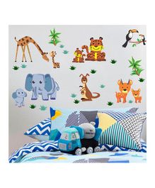 Chipakk Animal Theme Wall Stickers - Multi Color