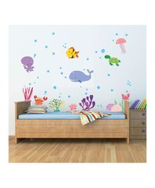 Chipakk Under Water Theme Wall Sticker - Multi Color