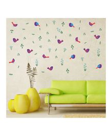 Chippak Bird Theme Wall Sticker - Multi Color