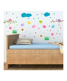 Chippak Cloud & Birds Theme Wall Sticker - Multi Color