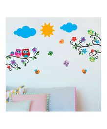 Chippak Branch & Bird Theme Wall Sticker - Multi Color