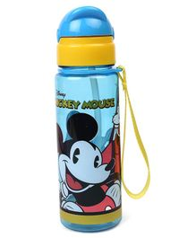 Disney Mickey Mouse Sipper Bottle With Pop Up Straw Blue - 400 ml
