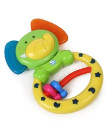 BKids Elephant Rattle & Teether - Multicolour