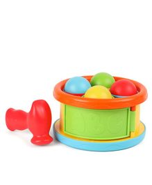 BKids Hammer Drum Ball Drop Game - Multicolour