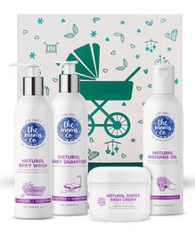 The Moms Co Ribbon Gift Box Care Kit - Pack of 4