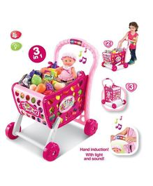GetBest Shopping Cart With Music & Light - Pink