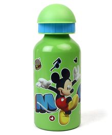 Disney Mickey Mouse Flip Open Aluminium Sipper Bottle Green - 400 ml