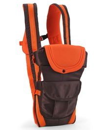 3 Way Baby Carrier - Dark Brown & Orange